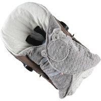 Couverture promenade groloudoux gris clair