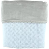 Couverture groloudoux 75 x 100 cm bleu cocon / gris perle