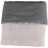 Couverture groloudoux 75 x 100 cm gris perle / gris foncé