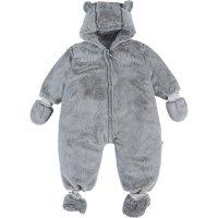Combinaison nomade 70 cm gris clair fausse fourrure