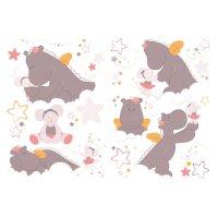 Stickers chambre bébé mia et victoria