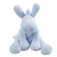 Peluche bébé paco medium bleu cocon