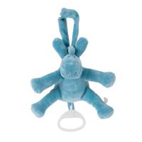 Peluche bébé mini musical paco turquoise
