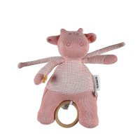 Peluche mini musical coton bio lola rose