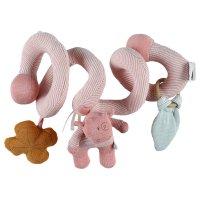 Jouet de lit bébé spirale d'activités coton bio lola rose