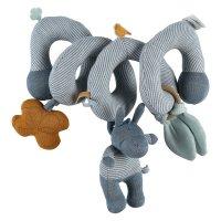 Jouet de lit bébé spirale d'activités coton bio paco bleu