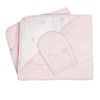 Sortie de bain bébé rose cocon nouky