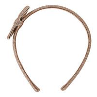 Accessoire pour cheveux serre-tête noeud glitter or