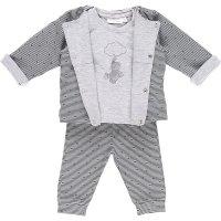 Ensemble bébé 3 pièces cocon cardigan gris