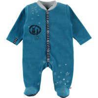 Pyjama dors bien velours imagine bleu