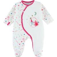 Pyjama dors bien velours imagine blanc et rose