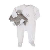 Coffret naissance pyjama nouky et son doudou tidou
