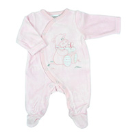 Pyjama dors bien velours rose cocon girl