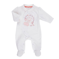 Pyjama dors bien velours blanc smart girl