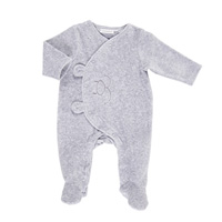 Pyjama dors bien velours gris mix and match