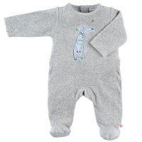 Pyjama dors bien velours smart boy gris clair