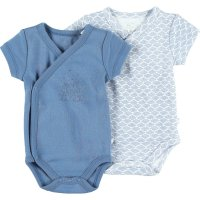 Lot de 2 bodies manches courtes denim blue