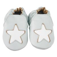 Chaussons bébé en cuir étoile cocon ciel