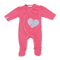 Pyjama bébé jersey peps girl rose néon