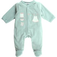Pyjama dors bien velours graphic girl aqua