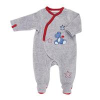 Pyjama dors bien velours gris bord de mer garçon
