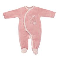Pyjama dors bien velours rose graphique girl