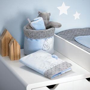 Noukies Protège carnet de santé poudre d'étoiles bleu