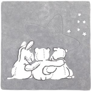 Tapis en coton avec personnage poudre d'étoiles