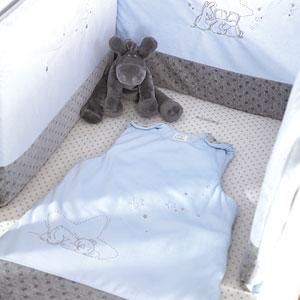 Noukies Tour de lit poudre d'étoiles bleu