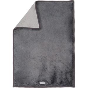 Couverture lit bébé grosloudoux 100x140 cm gris foncé/gris clair
