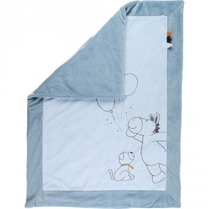 Noukies Couverture veloudoux 75 x 100 cm achille et zébrito