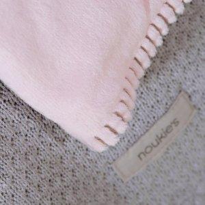 Noukies Couverture bébé veloudoux 100 x 140 cm poudre d'étoiles rose