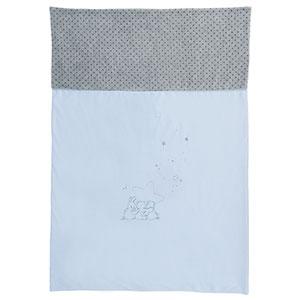 Couverture veloudoux 100x140cm poudre d'étoiles bleu