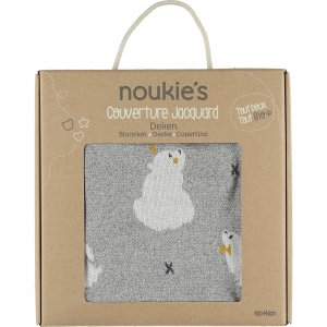 Noukies Couverture jacquard 100 x 140 cm timeless