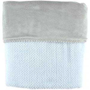 Noukies Couverture groloudoux 75 x 100 cm bleu cocon / gris perle