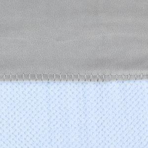 Noukies Couverture groloudoux 100 x 140 cm bleu cocon / gris perle