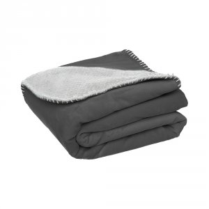 Noukies Couverture groloudoux 75 x 100 cm gris perle / gris foncé