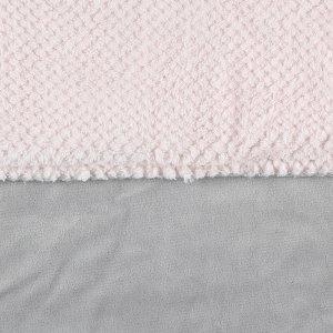 Noukies Couverture groloudoux 75 x 100 cm rose cocon / gris perle