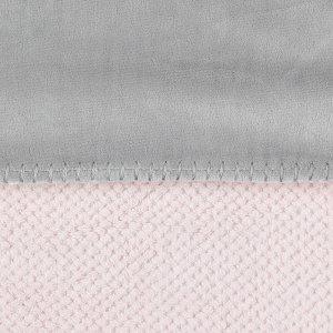 Noukies Couverture groloudoux 100 x 140 cm rose cocon / gris perle