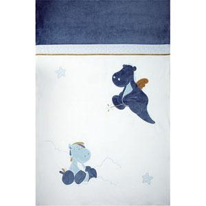Couverture lit bébé 100x140 cm victor et lucien