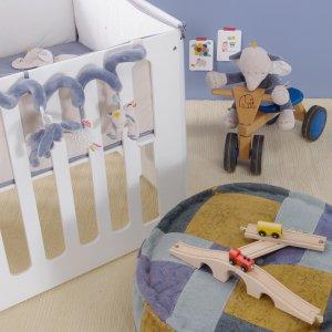 Noukies Jouet de lit bébé spirale d'activités bao et wapi