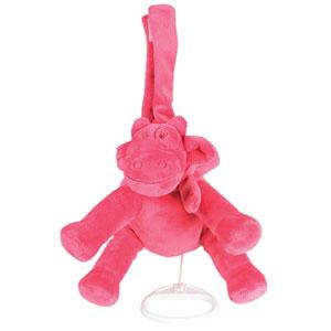 Noukies Peluche bébé mini-musical lola framboise