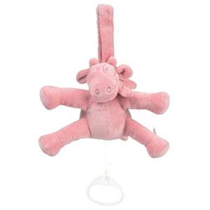 Noukies Peluche bébé mini musical lola macaron