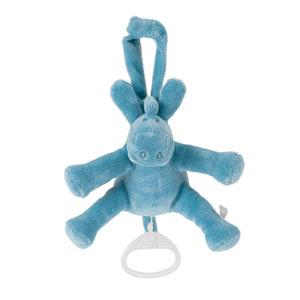 Noukies Peluche bébé mini musical paco turquoise