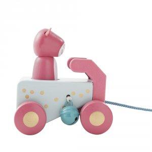 Noukies Jouet d'éveil bébé voiture à tirer lola anniversaire