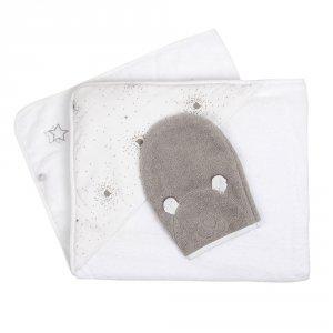 Sortie de bain gris clair nouky