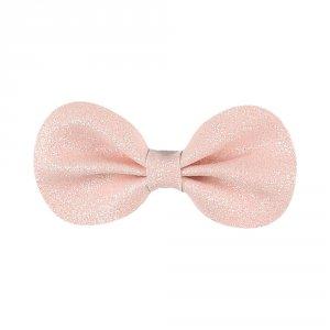 Accessoire pour cheveux pince gros noeud rose