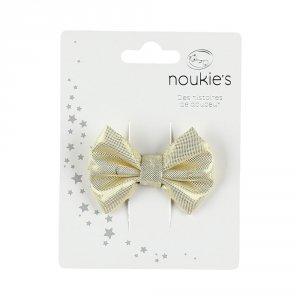 Noukies Accessoire pour cheveux pince noeud doré