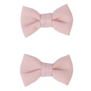 Lot de 2 pinces à cheveux noeuds rose pâle