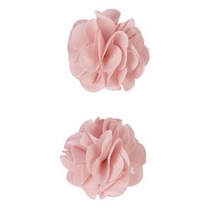 Lot de 2 pinces à cheveux pompons rose pâle